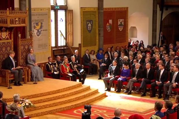 de politieke elite verzameld in de Ridderzaal op Prinsjesdag 2017