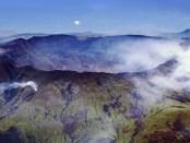 De vulkaan Pinatubo in de Filipijnen.