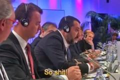 Ruzie tussen de Italiaanse minister Salvini en zijn Luxemburgse collega Asselborn op persconferentie te Salzburg (17 september 2018)