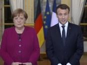 Angela Merkel en Emanuel Macron