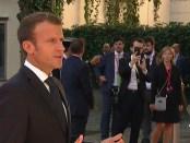 Franse president Macron op de informele EU-top in Salzburg (september 2018)