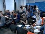 Persconferentie in Nieuwspoort