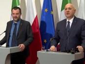 de Italiaanse minister Matteo Salvini en zijn Poolse collega Joachim Brudzinski (9 januari 2019)
