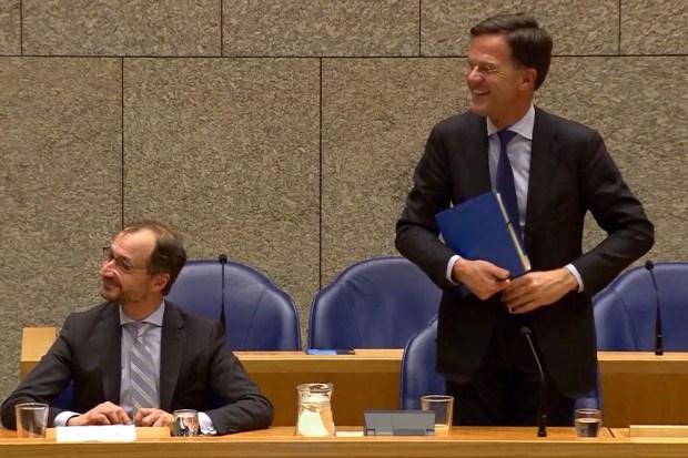 Minister Wiebes van Economische Zaken en Klimaat en premier Rutte in de Tweede Kamer (30 januari 2019)