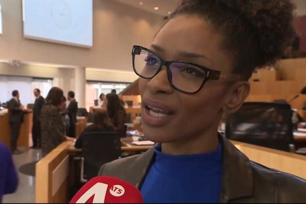 Sylvana Simons, lid gemeenteraad Amsterdam voor Bij1