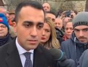 De Italiaanse vice-premier Luigi di Maio na zijn ontmoeting met de Franse Gele Hesjes (7 januari 2019)
