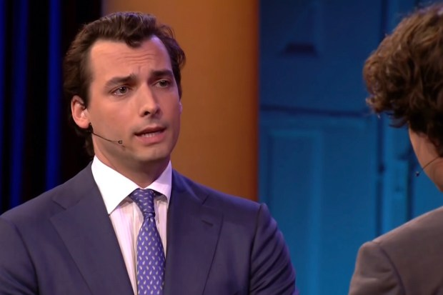 Thierry Baudet tijdens RTL verkiezingsdebat (20 maart 2019)