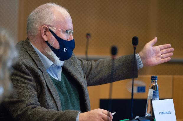Titelfoto bij artikel EU keurt curieuze Klimaatwet Frans Timmermans goed Ferdinand Meeus Opiniez