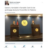 Duitse minister van Buitenlandse Zaken schoffeert Israël