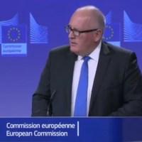 Waar staat de EU eigenlijk voor, Frans Timmermans?