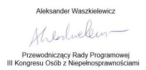Aleksander Waszkielewicz - podpis