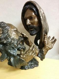 Państwo ślepców  Pomnik, Twarz, Religijnych, Ślepiec, Carving