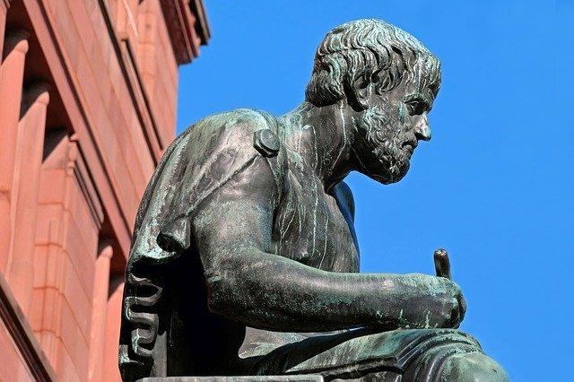 Arystoteles -  rzeźba
