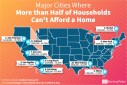 Places Where 50% of American's Can't Afford a Home (PRNewsfoto/GOBankingRates)
