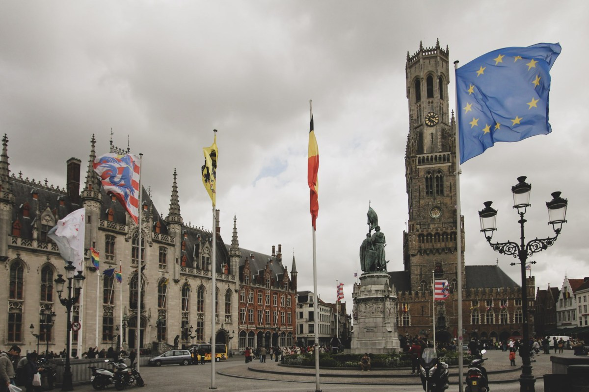 Bruges, Belgium is the very heart of EU and a good represantation of problems haunting good old Europe