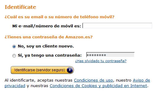 Identificate gratis en Amazon Premium