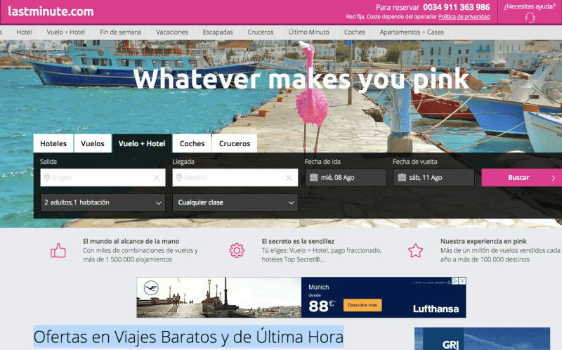 chollo lastminute viajes