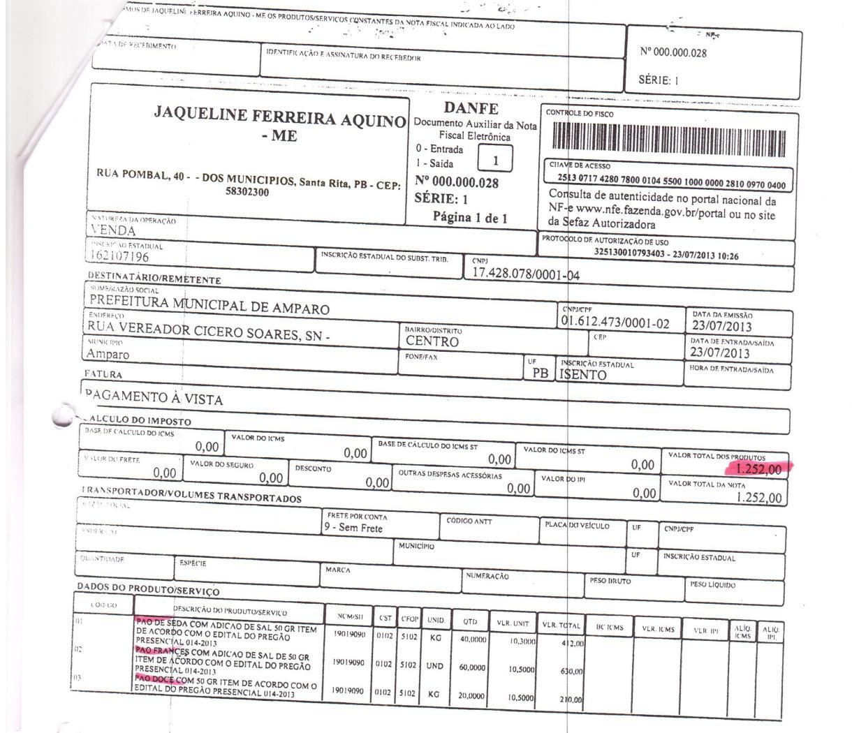 PÃES-1-001-2 Vereador denuncia prefeito de Amparo por comprar Pão no município de Santa Rita com valor superior ao do município e região