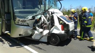 Acidente entre ônibus e carro mata três soldados e fere três pessoas 1
