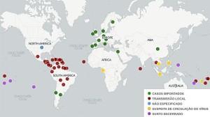 mapa_zika-300x168 Zika já tem transmissão local em 34 países e não se limita às Américas
