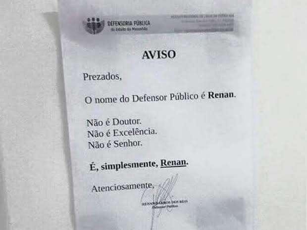 renan5 Defensor público do MA dispensa nomenclatura e ganha redes sociais