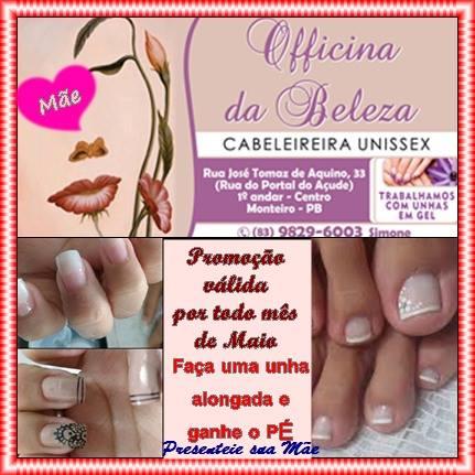 13219902_1130279520326190_1947400652_n Grande promoção na Officina da Beleza em Monteiro;Confira