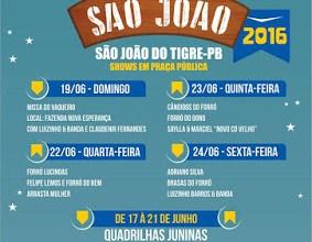 Prefeitura divulga programação do São João 2016 de São João do Tigre 7