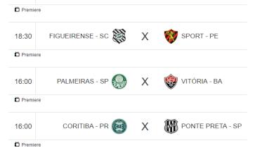 Campeonato Brasileiro de Futebol jogos de hoje 4