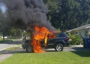 Telefone celular explode e incendeia carro nos Estados Unidos 3