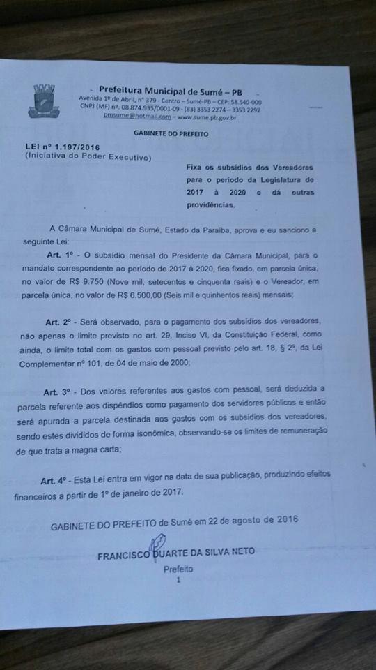 sume-aumento-de-salario-do-vereadores Exclusivo: Vereadores de Sumé aumentam os próprios salários e o do prefeito e secretários