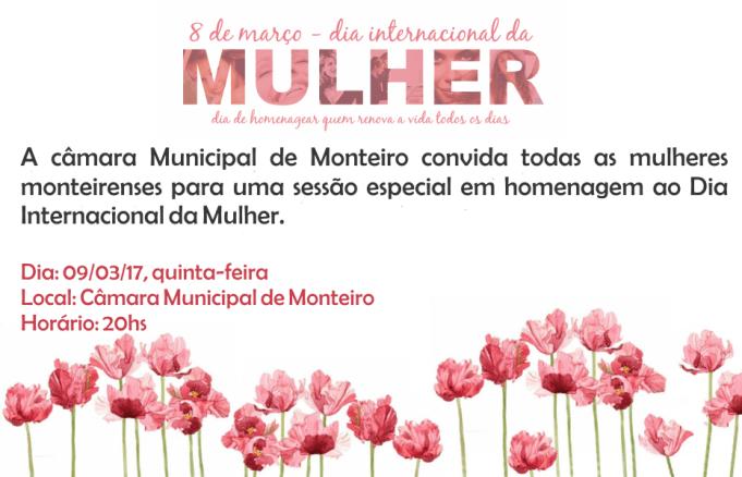 1-1 Câmara Municipal de Monteiro homenageia mulheres com sessão especial