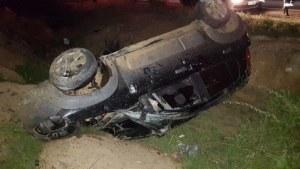 Monteirense perde o controle de veículo e capota na BR-412 1