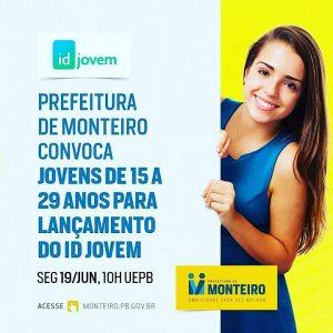 id-jovem-monteiro-300x300 Prefeitura convoca jovens de 15 a 29 anos para lançamento do ID Jovem