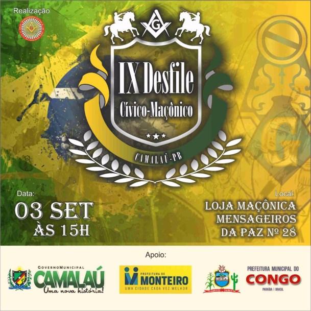 adcd7de3-a772-4593-9268-10aa81e3c492-1 Loja maçônica de Camalaú-PB realizará IX desfile cívico