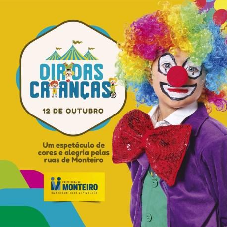 dia_crianca Dia das Crianças em Monteiro terá sorteios de brindes, espetáculo circense e guloseimas