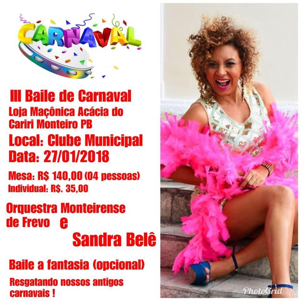 Loja-Maçônica-promove-III-Baile-de-Carnaval-no-dia-27-em-Monteiro Loja Maçônica promove III Baile de Carnaval no dia 27, em Monteiro
