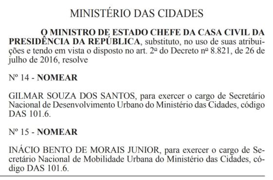 nomeacao Nomeação de paraibano para secretaria de Ministério é publicada no Diário Oficial da União