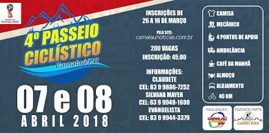 Camalaú receberá 4º passeio ciclístico no mês de Abril, o pioneiro do Cariri 1