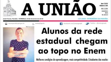Serra-branquense aprovado em 1º lugar em Odontologia na UFCG é destaque em jornal estadual 3
