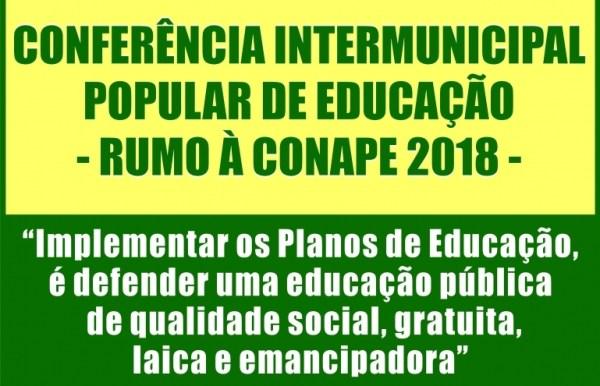 convite Monteiro sediará Conferência Intermunicipal Popular de Educação nesta sexta-feira