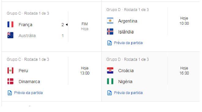 Sem-título JOGOS DE HOJEda copa du mundo 2018 confira.
