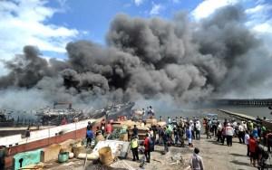 Incêndio destrói 39 barcos de pesca na Indonésia 3