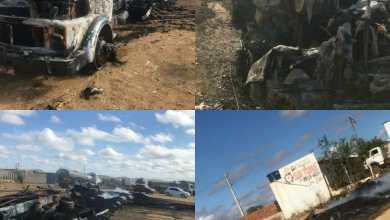 Carga de carvão em caminhão pega fogo e destrói Caminhão e Carreta em Monteiro. 6