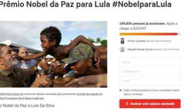 Lula é indicado oficialmente ao Nobel da Paz 2
