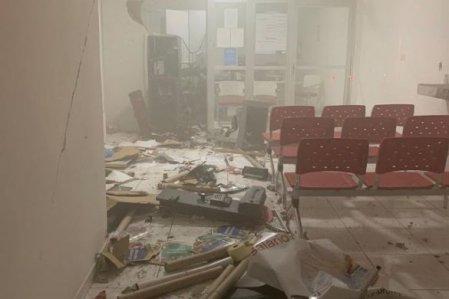banco-explosão-585x390 Bandidos explodem agência bancária do Banco Bradesco em Bom Sucesso