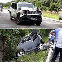 Acidente entre veículos deixa mulher morta e dois feridos na Paraíba*