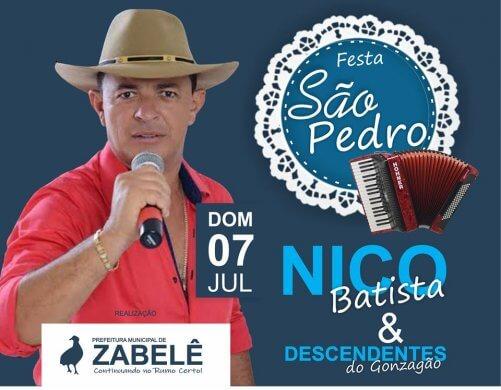 65991015_2032769387031933_9031279955253657600_n-501x390 Nico Batista é atração na Festa de São Pedro em Zabelê
