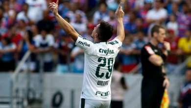 Palmeiras bate Fortaleza e segue na cola do líder Flamengo 5