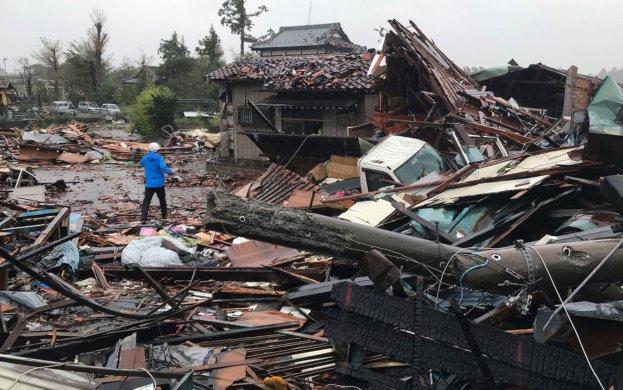 destroi-623x390 Passagem de tufão no Japão deixa 24 mortos