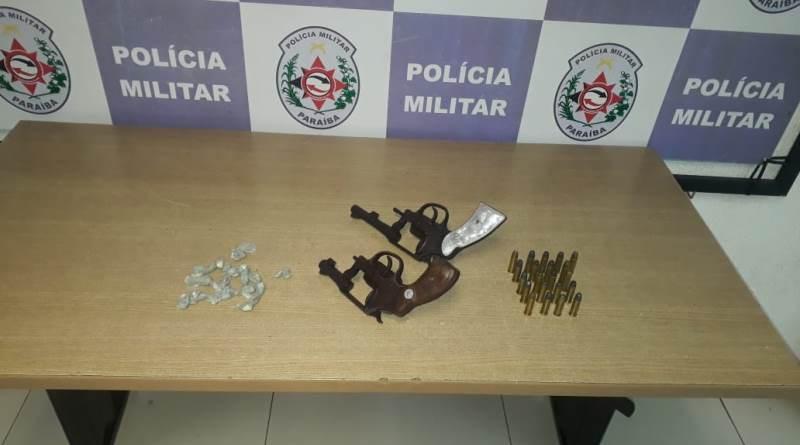 armasapreendidas-2 Operação Trabalhador: Polícia Militar prende seis suspeitos, apreende três armas de fogo e drogas na Capital